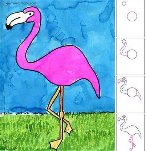 kolay flamingo cizimi okul ev etkinlikleri