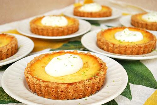 {GF} Key Lime Cheesecake Tarts