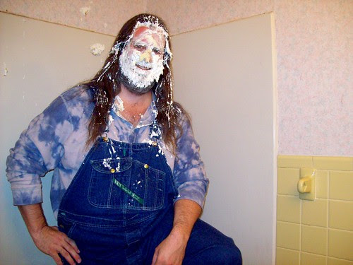 My oh my, the tie-dyed guy is pied!