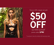 $50 off your order of $150 +