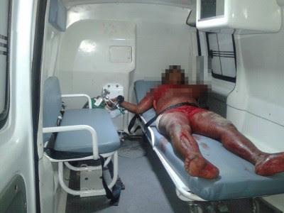 Mulher foi alvejado por quatro tiros na Várzea (Foto: Ubatã Notícias)