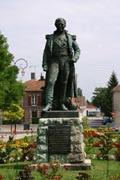 La statue aujourd'hui à Brienne le Chateau
