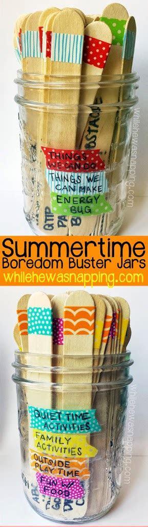 washi tape summer boredom buster jars    napping