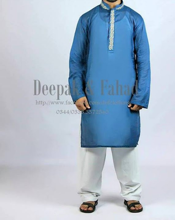 Mens-Boy-New-Summer-Eid-Dress-Kurta-Kamiz-Salwar-Pajama-2013-by-Deepak-Fahad-13