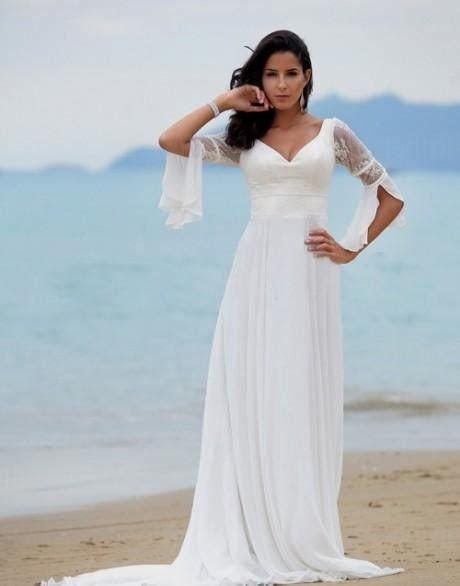 plus size beach wedding dresses with sleeves 2016 2017