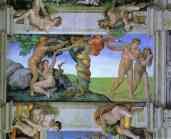 Michelangelo. The Fall of Man and the Expulsion from the Garden of Eden.