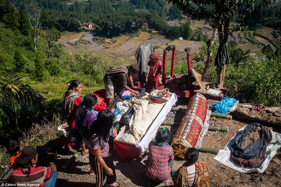 Indonesian tribe exhume their dead for harvest festival  Daily Mail Online