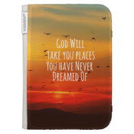 Inspirational Christian Quote: God Will Kindle Case