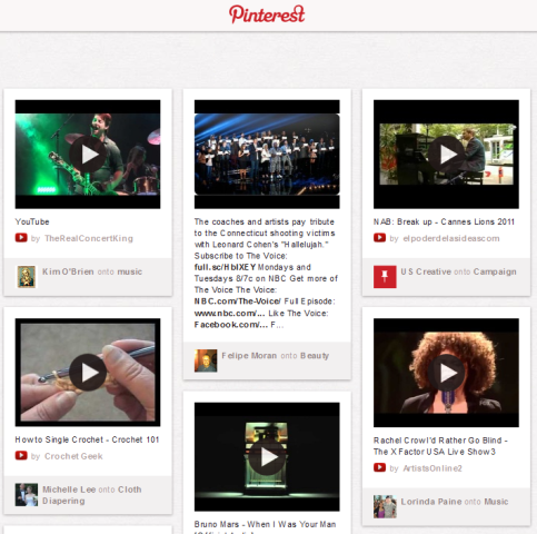 pinterest with videos