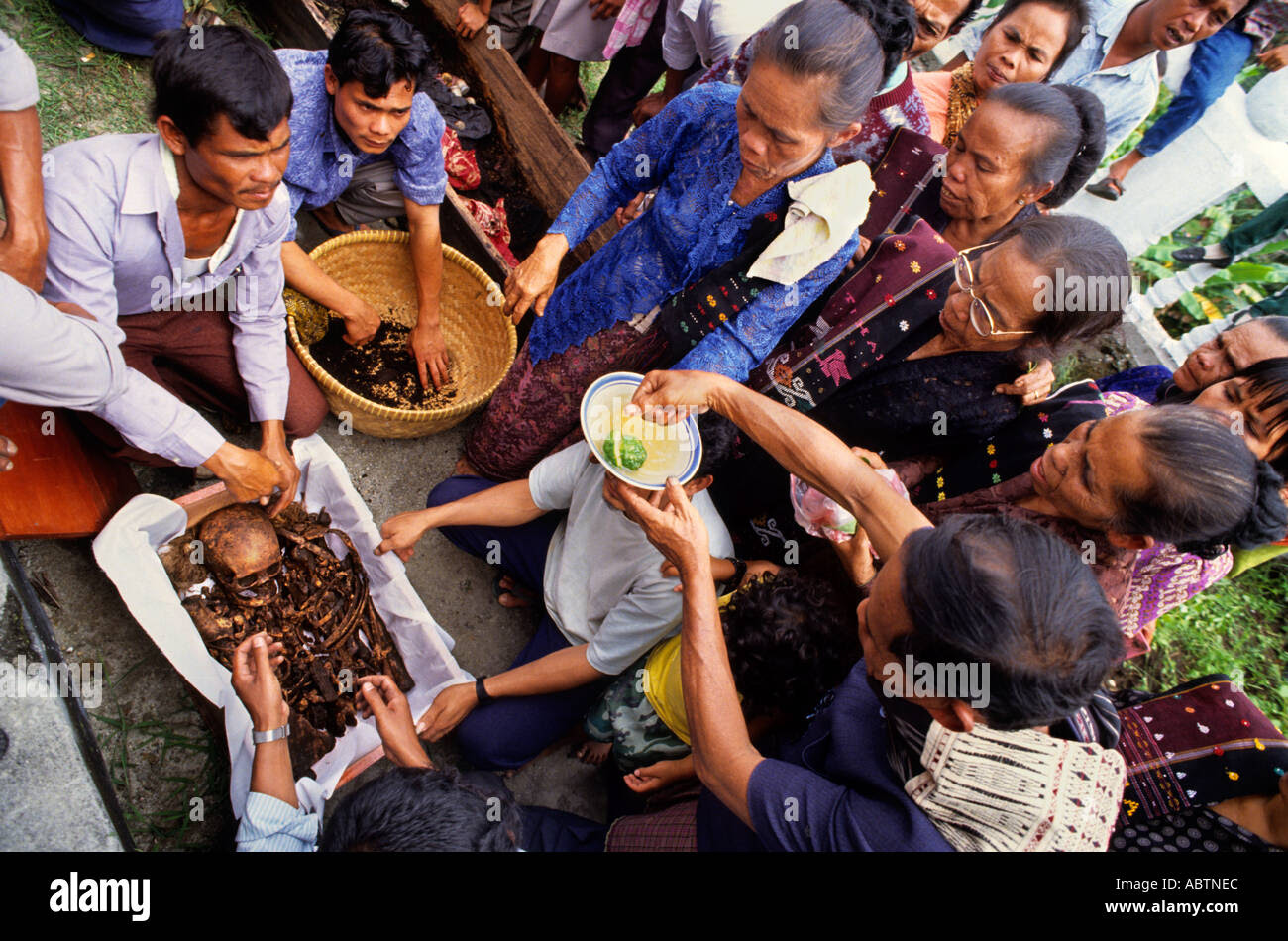Samosir Toba Batak Indonesia Sumatra ceremony burial service Stock Photo, Royalty Free Image