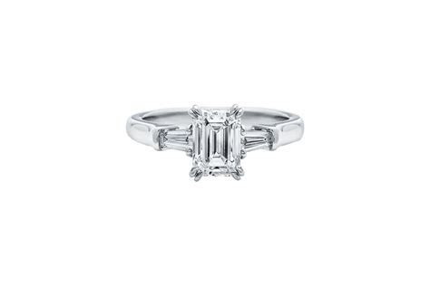 Emerald Cut Diamond Engagement Ring   Harry Winston