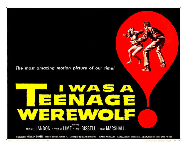 Reynold Brown - I Was a Teenage Werewolf (American International, 1957) half sheet