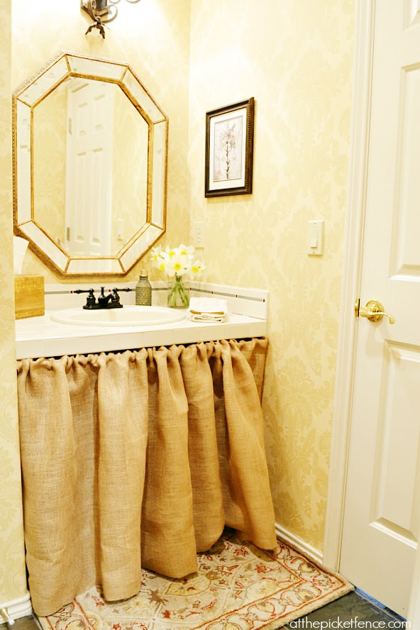 French Country Powder Room from atthepicketfence.com