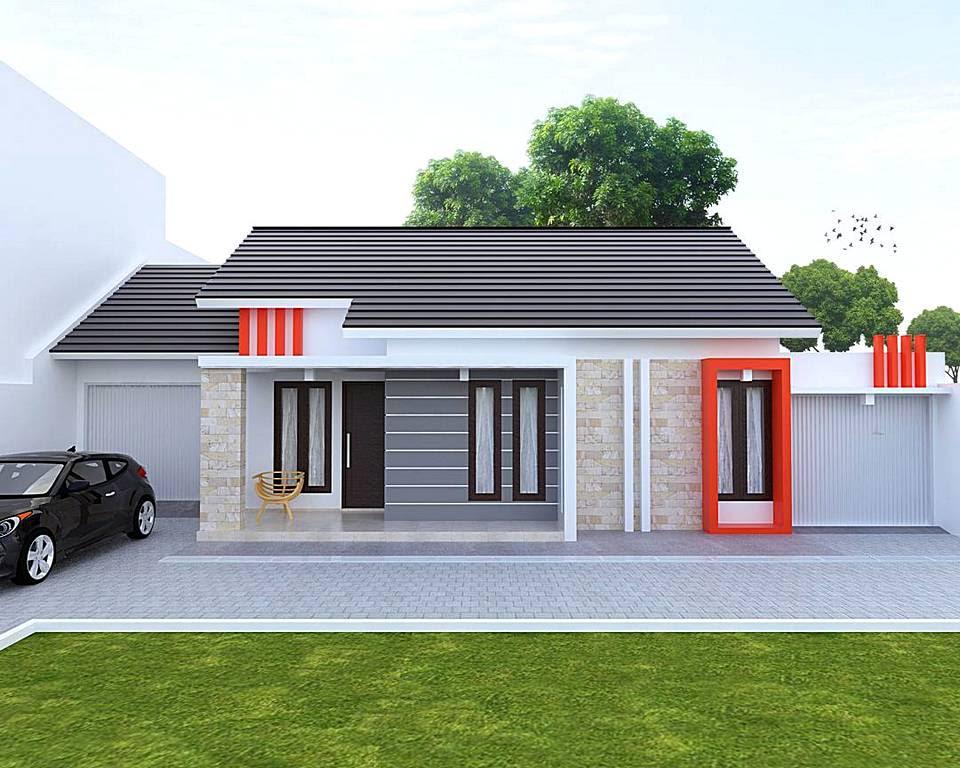 Rumah Minimalis Tampak Depan Dengan Batu Alam baru  Desain Rumah Minimalis