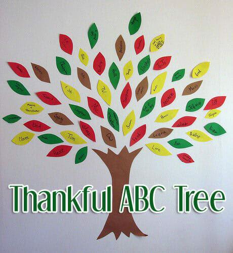 thankful abc tree thanksgiving craft