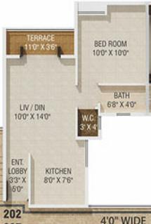 1 BHK Flat in Gagan Akanksha Prayagdham - 425 Carpet - 2nd to 7th Floor - Rs. 14,26,766 + 75,000 Parking +16,800 Advance Maintenance of 24 Months + 28,000 Corpus fund