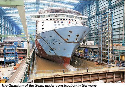 Quantum of the Seas under construction