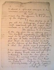 Private Richard Ainscough d.19.5.1918 - letter