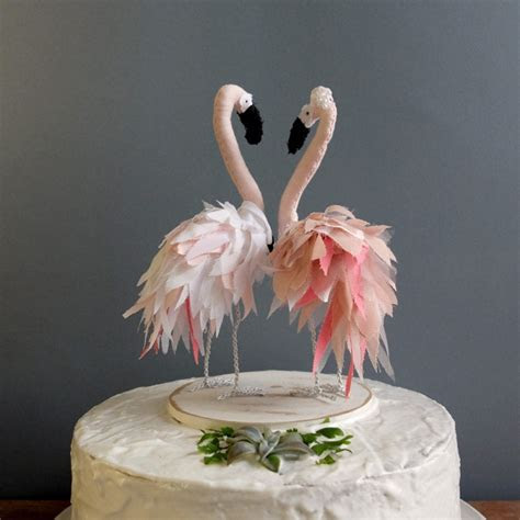 Flamingo Wedding Cake Topper   Aisle Society