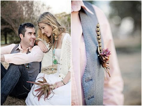 Aqua, Coral & Mauve Earthy Bohemian Forest Wedding