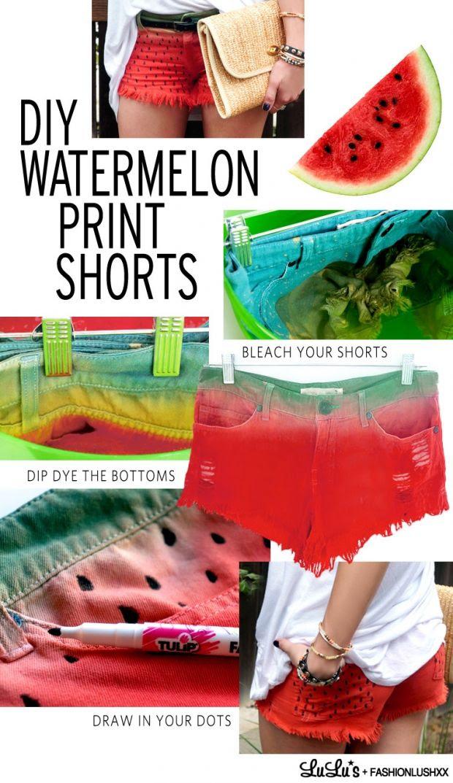 DIY: Watermelon Summer Shorts | Her Campus #fashion #DIY #summer