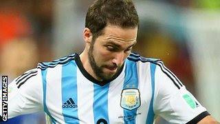 Argentina striker Gonzalo Higuain