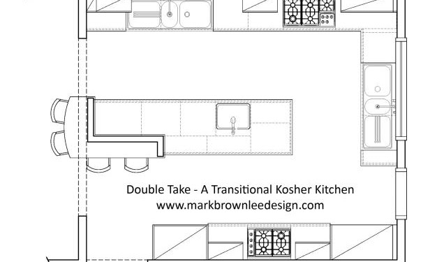 Island Kitchen Plan Design