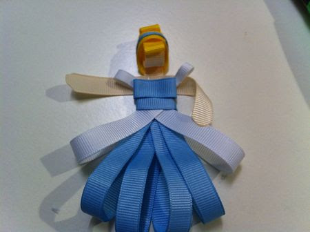 Cinderella hair clippie