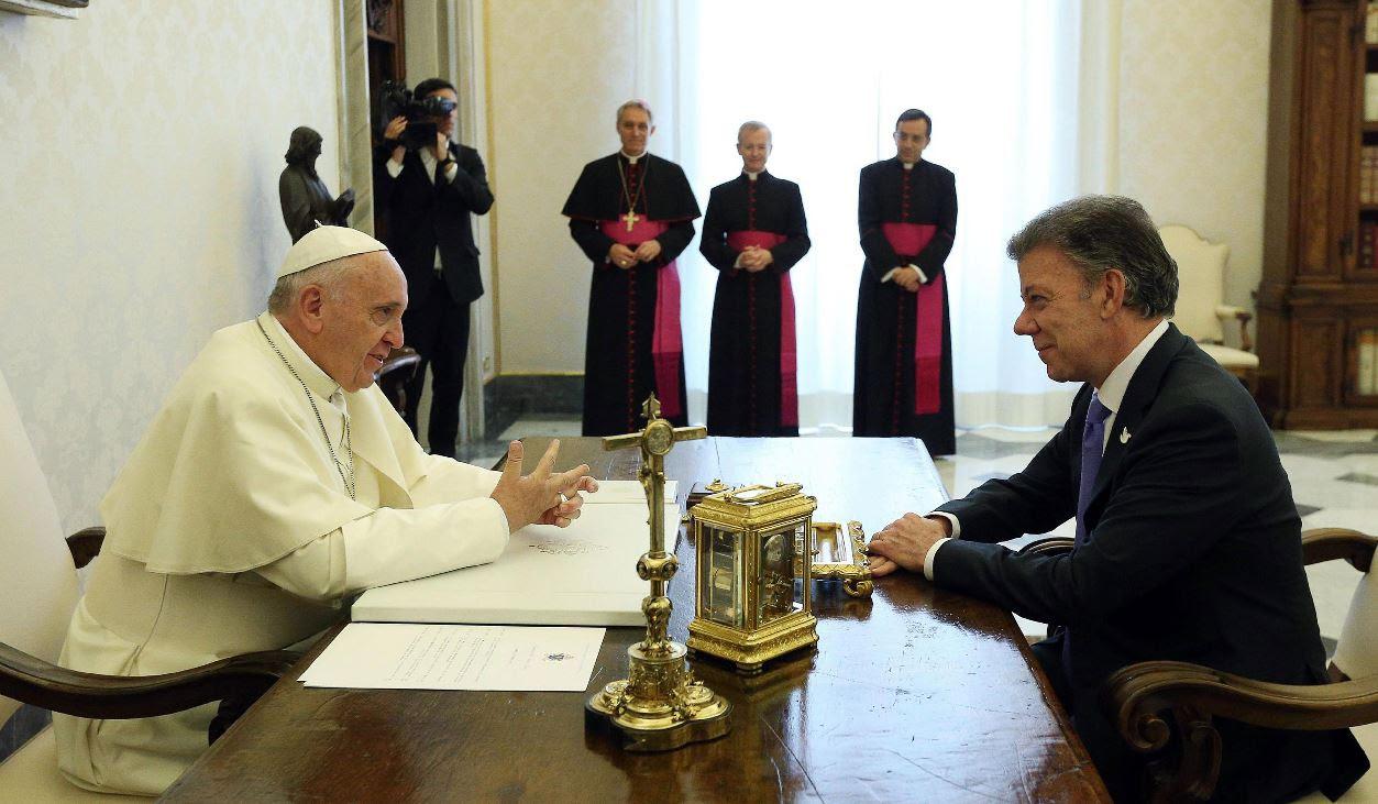 Resultado de imagen de papa francisco proceso de paz