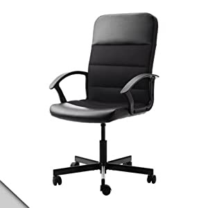 Amazon.com: IKEA - FINGAL Swivel office chair, black: Office Products