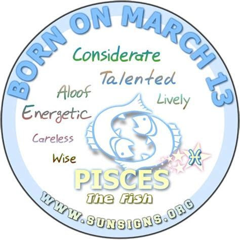 Related Keywords & Suggestions for march 13 zodiac