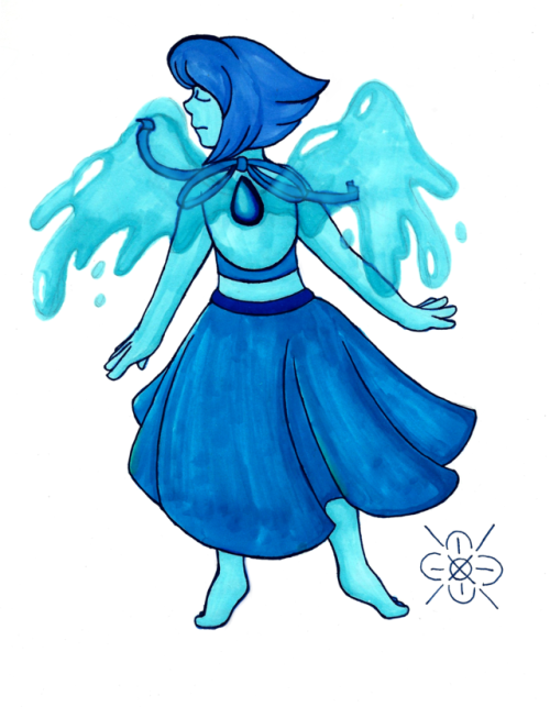 more inktober stuff! Lapis Lazuli is so pretty