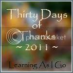 Thiry Days Of Thanks