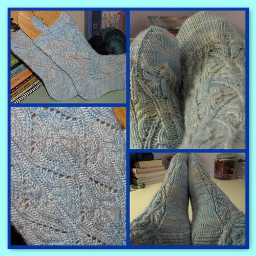 The prettiest socks I've ever knit!