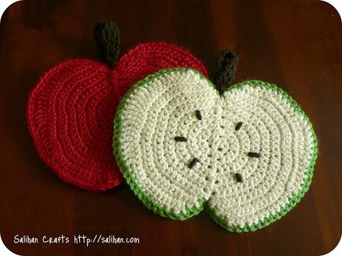 Crochet Apple Dishcloths