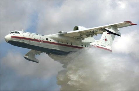 The Beriev Be-200 waterbomber