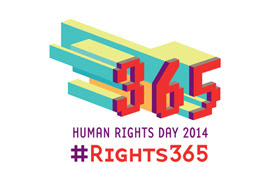 The logo for Human Rights Day 2014 and hashtag rights365