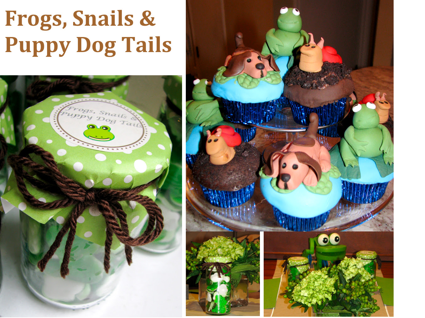 Its A Boy Frogs Snails Puppy Dog Tails Baby Shower Stylish Spoon