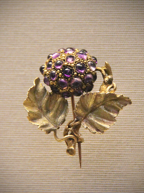 Amethysts, citrine and coloured gold, English, mid 19c 2