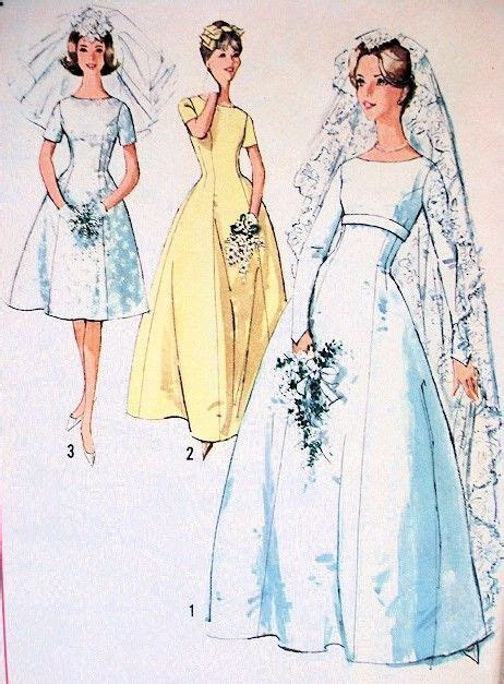 1960s Lovely Princess Line Wedding Gown Bridal Dress