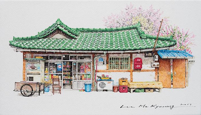 20 Tahun Menggambar Sketsa Toko Toko Lokal Di Korea Provoke Online