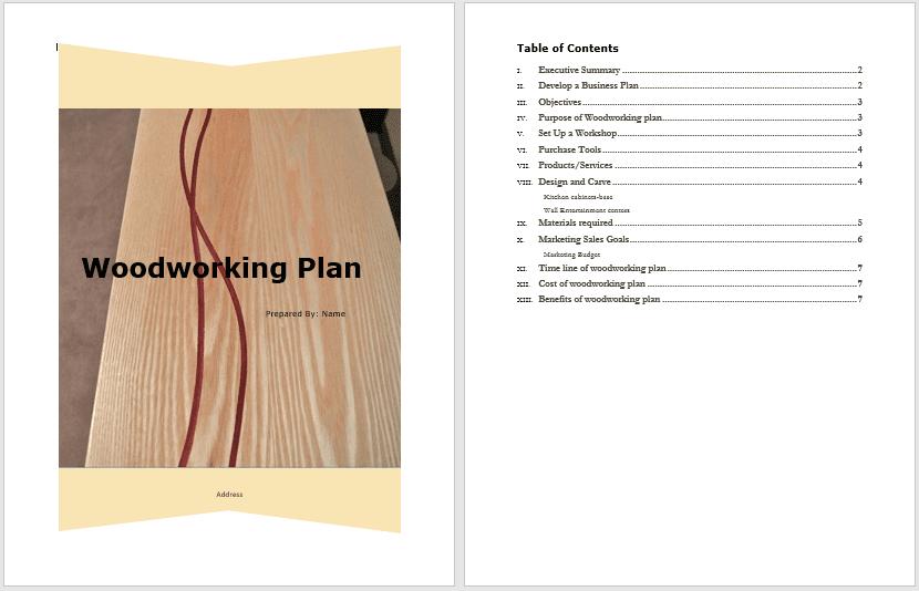 Woodworking Plan Tem
