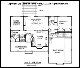 Small Ranch Style House Plan Sg 1199 Sq Ft Affordable Small Home