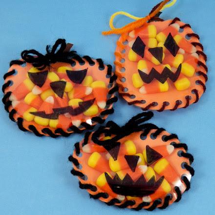 How To Make A Sew A Pumpkin Halloween Favors Halloween Crafts