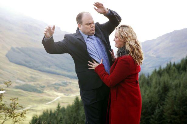 Janine Butcher (Charlie Brooks ) kills Barry Evans (Shaun Williamson) in EastEnders in 2004