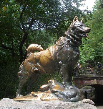 Balto statue, Balto statue