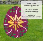 Easter Egg Yard Art Woodworking Pattern - fee plans from WoodworkersWorkshop® Online Store - easter eggs,whales,yard art,painting wood crafts,scrollsawing patterns,drawings,plywood,plywoodworking plans,woodworkers projects,workshop blueprints