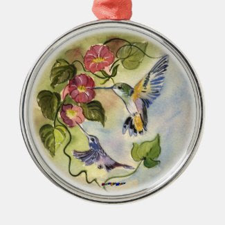 Humming Birds Christmas Tree Ornaments
