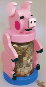 Jumbo Piggy Bank Woodworking Plan - fee plans from WoodworkersWorkshop® Online Store - coin banks, piggy,pigs,childrens,childs,kids,full sized patterns,woodworking plans,woodworkers projects,blueprints,drawings,blueprints,how-to-build,MeiselWoodHobby