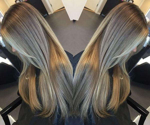 Dunkelblonde Haare Mit Blonden Strähnen Allefrisurende